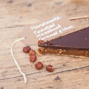 toasted hazel nut choc and caramel tart
