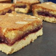 Cherry Bakewell Slice