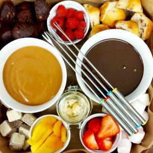 Dessert Platter chocolate fondue